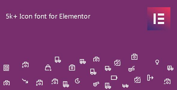 Wordpress Add-On Plugin Icon Element - Elementor Page Builder Icon Pack