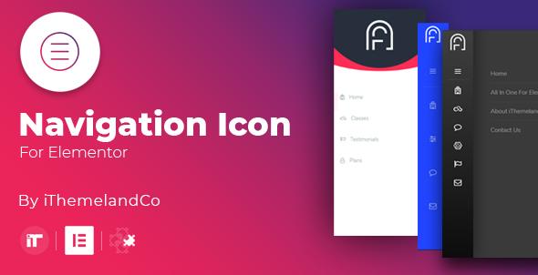 Wordpress Add-On Plugin Icon Nav For Elementor