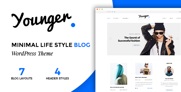Wordpress Blog Template Younger Blogger - Personal Blog Theme