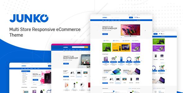 Wordpress Shop Template Junko - Technology Theme for WooCommerce WordPress