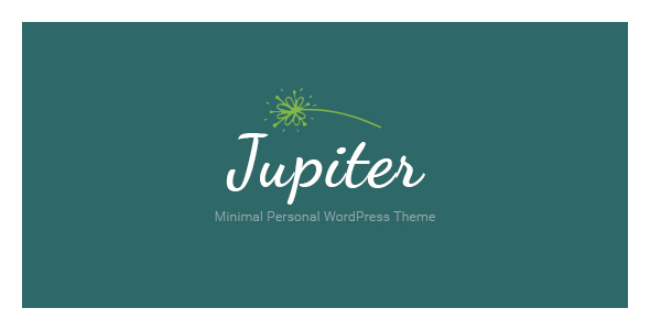 Wordpress Blog Template Jupiter Minimal Personal WordPress Theme