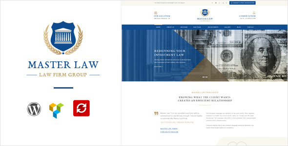 Wordpress Corporate Template Law Master - Law, Attorney, Legal firm,  lawyer WordPress theme