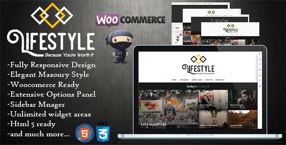 Wordpress Blog Template Lifestyle - Multipurpose Blog/Magazine Theme