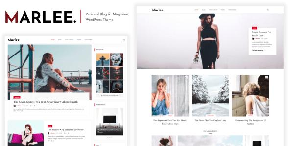 Wordpress Blog Template Marlee - Personal WordPress Blog Theme