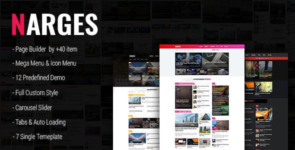 Wordpress Blog Template Narges - WordPress Blog & Magazine Theme