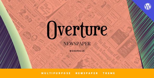 Wordpress Blog Template Overture - WordPress Magazine News Theme