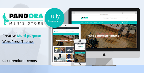 Wordpress Shop Template PD Pandora - Men's Fashion WordPress Theme
