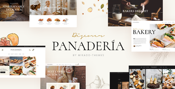 Wordpress Entertainment Template Panadería - Bakery and Pastry Shop Theme