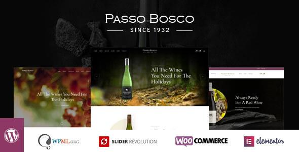 Wordpress Shop Template Passo Bosco - Wine & Vineyard WordPress Theme