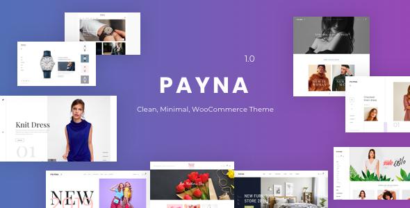 Wordpress Shop Template Payna - Clean, Minimal WooCommerce Theme