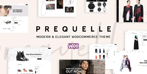 Wordpress Shop Template Prequelle - Elegant and Modern WooCommerce Theme