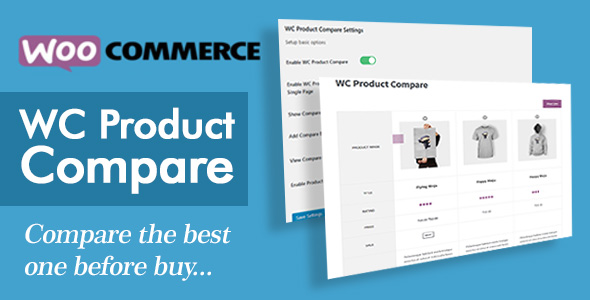 Wordpress E-Commerce Plugin Pro WC Product Compare
