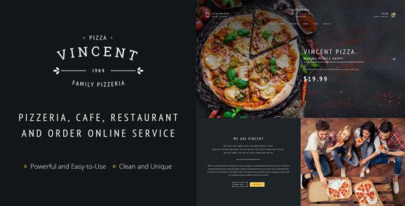 Wordpress Entertainment Template Restaurant Vincent