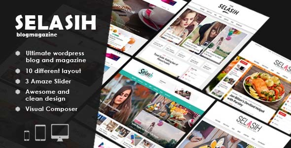 Wordpress Blog Template Selasih ultimate blog magazine