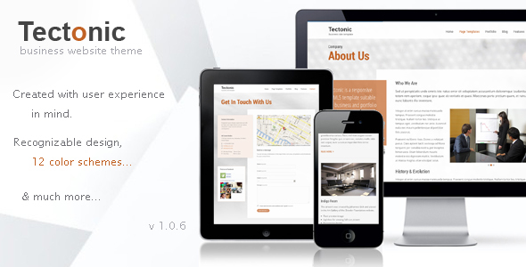 Wordpress Corporate Template Tectonic - Responsive WordPress Theme