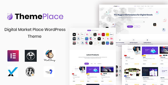 Wordpress Shop Template ThemePlace - Marketplace WordPress Theme
