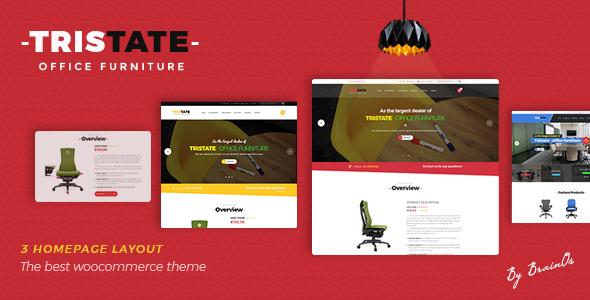 Wordpress Shop Template Tristate - Office Furniture WooCommerce WordPress Theme