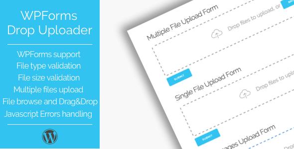 Wordpress Add-On Plugin Drop Uploader for WPForms - Drag&Drop File Uploader Addon