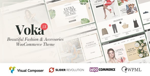 Wordpress Shop Template Voka - Fashion & Accessories WooCommerce Theme