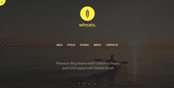 Wordpress Blog Template Wheats - WordPress easy blogging theme