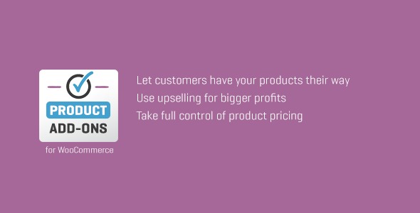 Wordpress E-Commerce Plugin WooCommerce Custom Product Add-Ons
