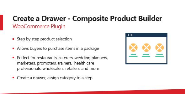 Wordpress E-Commerce Plugin WooCommerce Create A Drawer - Composite Product Builder Plugin
