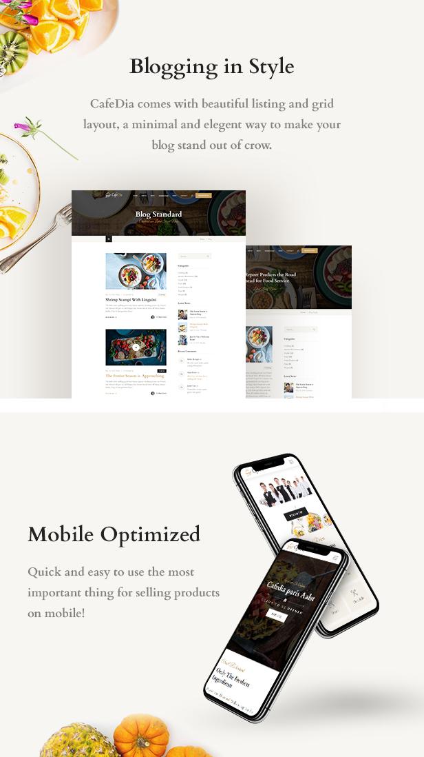 CafeDia - Restaurant WordPress Theme - 4
