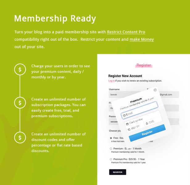 TianLock WP - Beschränken Sie Content Pro / Mitgliedschaft WordPress Theme - 1
