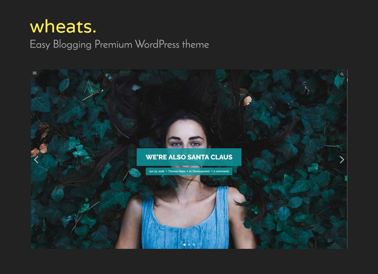 Weizen - WordPress einfach Blogging-Thema - 1