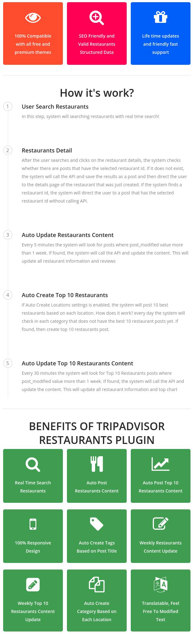 Tripadvisor Restaurants Plugin - 1