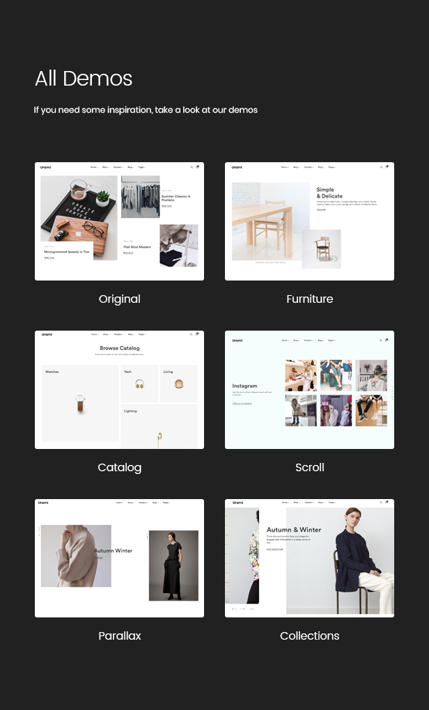 Urami WP - Modernes minimalistisches WooCommerce-Thema - 4