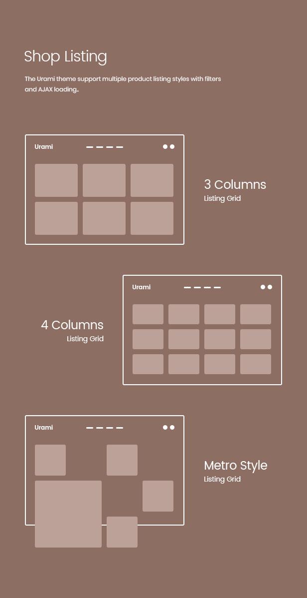 Urami WP - Modernes minimalistisches WooCommerce-Thema - 5
