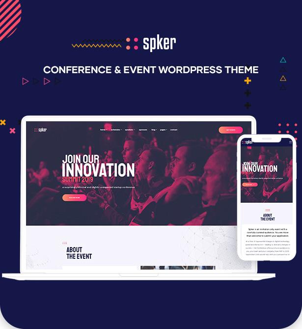 Spker - Konferenz & Event WordPress Theme