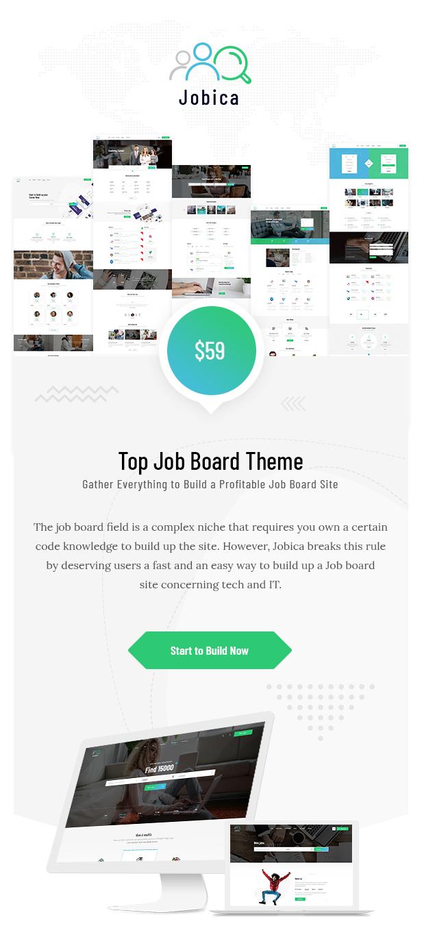 Jobica Tech Jobbörse WordPress Theme