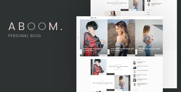 Wordpress Blog Template Aboom - Personal Blog WordPress Theme