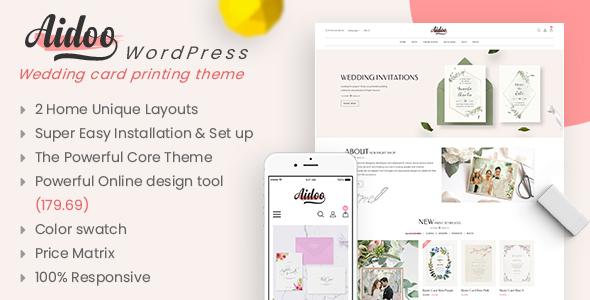 Wordpress Shop Template Aidoo - Wedding Card WooCommerce Theme