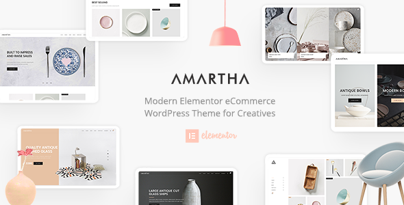 Wordpress Shop Template Amartha - Modern Elementor WooCommerce Theme