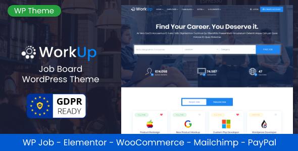 Wordpress Directory Template Workup – Job Board WordPress Theme