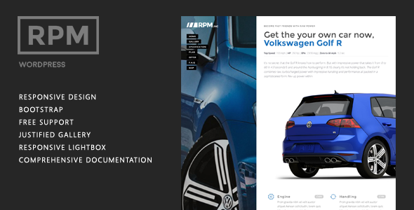 Wordpress Corporate Template Car and Motorcycle Dealer Landing Page WordPress - RPM