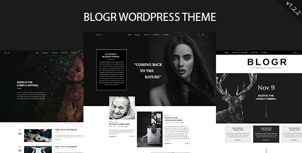 Wordpress Blog Template BLOGR - WordPress Theme for Special Bloggers