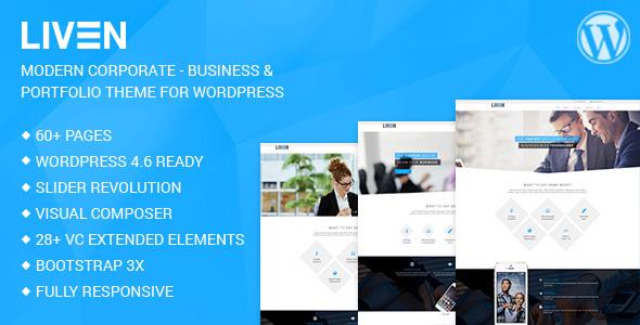 Wordpress Corporate Template Liven - Modern Corporate - Business & Portfolio Theme for WordPress