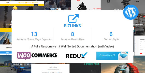 Wordpress Corporate Template BizLinks | Multipurpose Business and Agency WordPress Theme