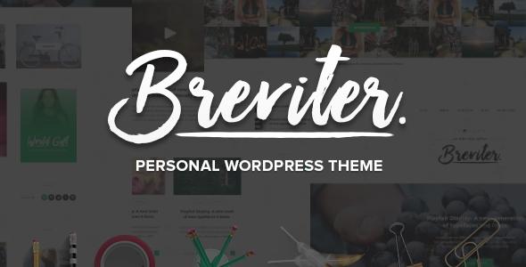Wordpress Blog Template Breviter Pro - handcrafted blog WordPress theme