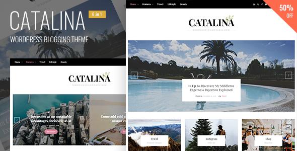 Wordpress Blog Template Catalina - Responsive Blogging WordPress Theme