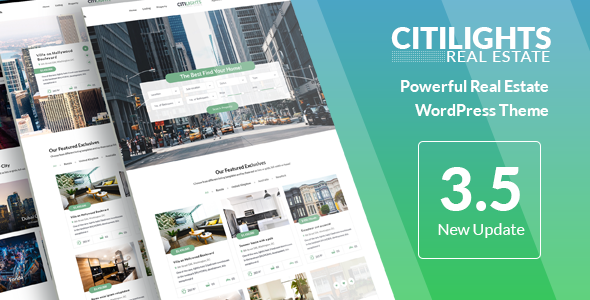 Wordpress Immobilien Template CitiLights - Real Estate WordPress Theme