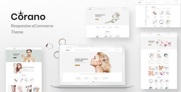 Wordpress Shop Template Corano - Jewellery Theme for WooCommerce WordPress