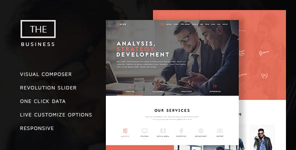 Wordpress Corporate Template The Business - Powerful One Page Biz Theme