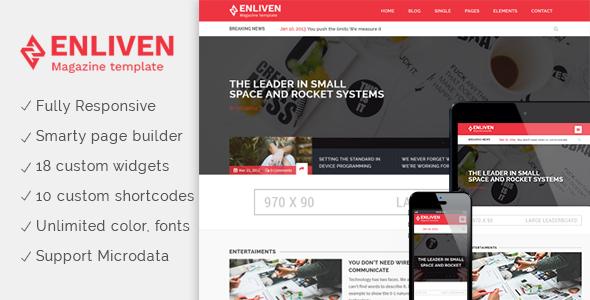 Wordpress Blog Template The Enliven - Parallax Blog and Magazine WordPress Theme
