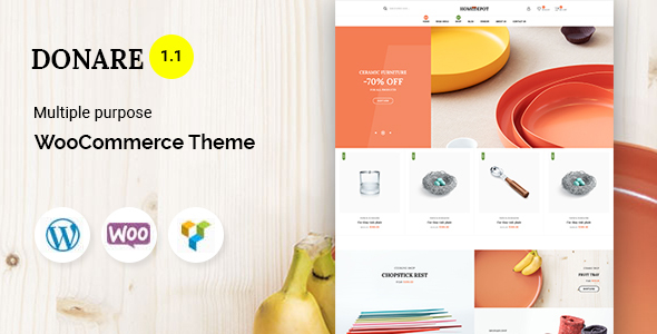 Wordpress Shop Template Donare - Gift Store WooCommerce Theme