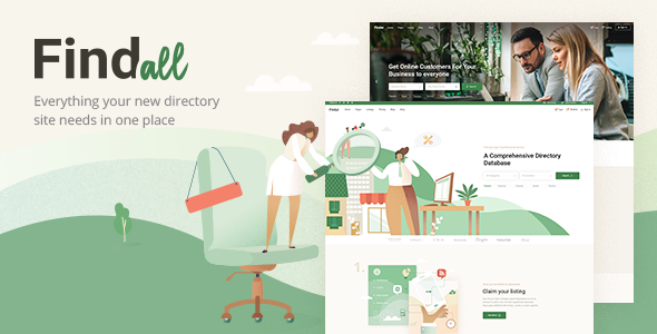 Wordpress Directory Template FindAll - Business Directory Theme